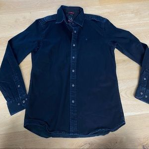 Victorinox Black Denim Long Sleeve Shirt size S